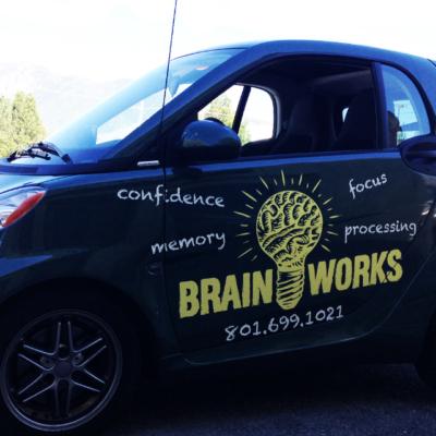 brain works car wrap
