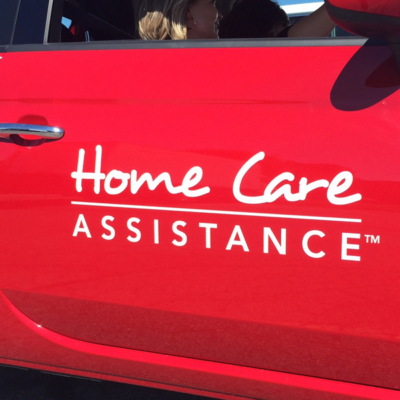 Home Care Assistance vehicle lettering